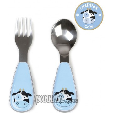 Skip Hop Zoo Tensils Fork & Spoon - Cow