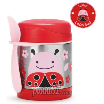 Skip Hop Zoo Insulated Food Jar - Lady Bug