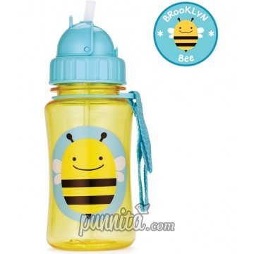 Skip Hop Zoo Straw Bottle-Bee