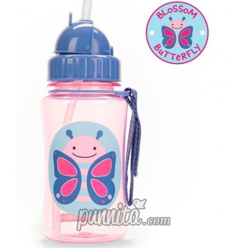 Skip Hop Zoo Straw Bottle-Butterfly