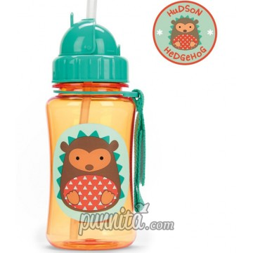 Skip Hop Zoo Straw Bottle-hedgehog