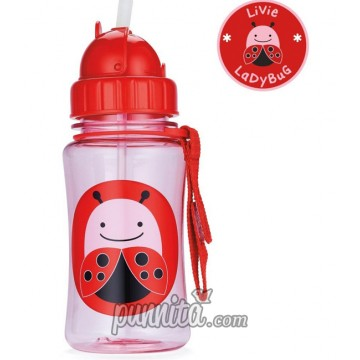 Skip Hop Zoo Straw Bottle-Lady Bug
