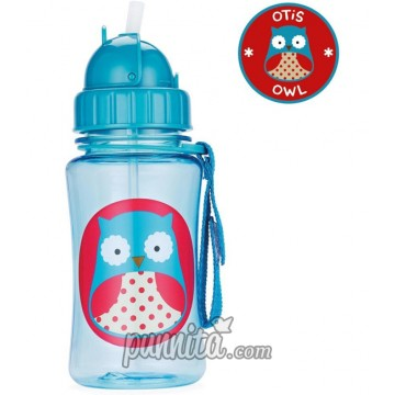 Skip Hop Zoo Straw Bottle-Owl