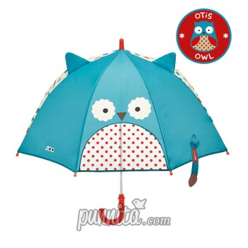 Skip Hop Zoo Brella Little Kid Umbrella - Owl