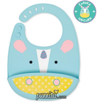 Skip Hop Zoo Fold and Go Silicone Bib Unicorn