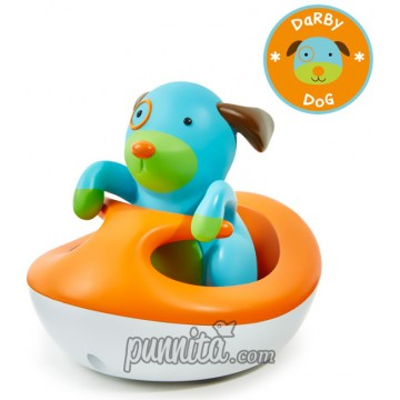 Skip Hop Zoo Bath Rew Up Wave Rider Dog