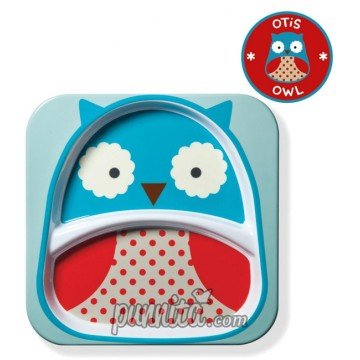 Skip Hop  Zoo Divided Plate Owl Style