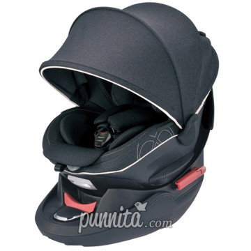 AILEBEBE คาร์ซีท  Kurutto 4s (seatbelt)Premium-black