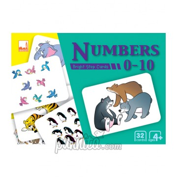 PELANGI Bright step cards - Numbers 0-10