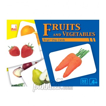 PELANGI Bright step cards - Fruits & Vegetables