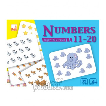 PELANGI Bright step cards - Numbers 11-20
