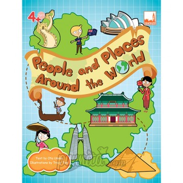 PELANGI FlashCards 3มิติ AR,แฟลชการ์ด - People and Places Around the World