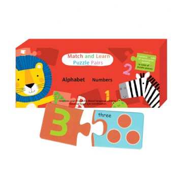 PELANGI  Match and Learn Puzzle Pairs -  Alphabet Number