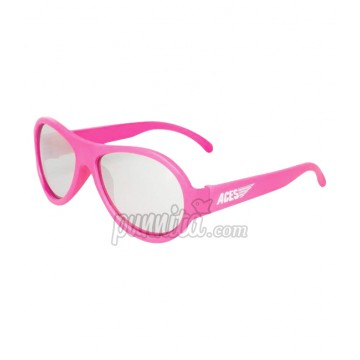 BABIATORS ACES AVIGATORS แว่นตากันแดด POPSTAR PINK MIRRORED LENSES 7-14 ปี