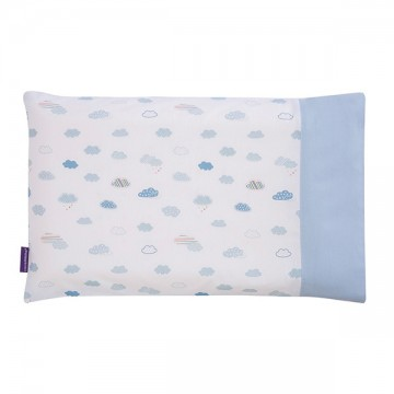 Clevamama ClevaFoam® Toddler Pillow Case – Blue ปลอกหมอน 12m+