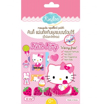 Kindee Mosquito Repellent Patch Kitty - แผ่นติดกันยุง 10 PCS