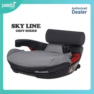 Welldon Carseat Booster รุ่น Sky Line - Grey