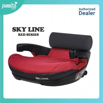 Welldon Carseat Booster รุ่น Sky Line - Red